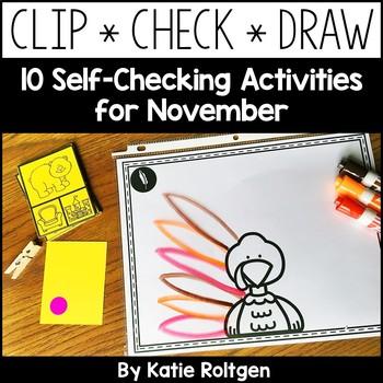 Self-Checking Cards for November