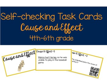 Self-Checking Cause & Effect Task Cards