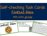 Self-Checking Central Idea Task Cards