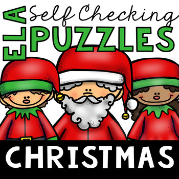 Self Checking Christmas Themed ELA Puzzles