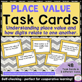 Place Value Task Cards - Degrees of 10 - Self-Checking & Common Core Aligned