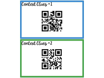Self-Checking Context Clues Task Cards