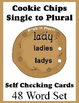 Self Checking Cookie Cards for Teaching Single to Plural - Independent Desk Work