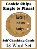 Self Checking Cookie Cards for Teaching Single to Plural -