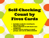 Self-Checking Count by Fives Cards (Count by 5s)