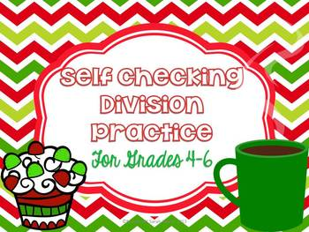 Self Checking Division Practice for Grades 4-6