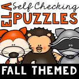 Self Checking Fall Themed ELA Puzzles