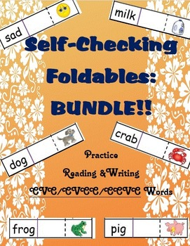 Self-Checking Foldables CVC/CVCC/CCVC Bundle!