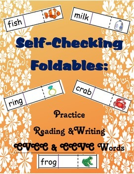 Self-Checking Foldables: Practice Reading & Writing CVCC/CCVC Words