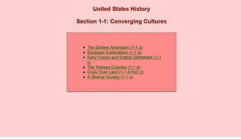 Self-Checking Games: U.S. History Part 1: Settlement - Constitution