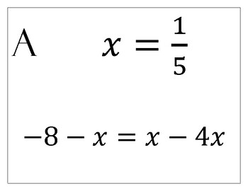 Self Checking Linear Equation Practice Assignment