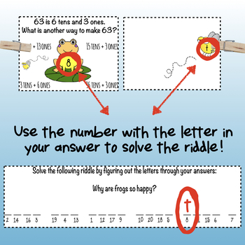 Self Checking Math Center-Regrouping Ones into Tens-With a Fun Riddle to Solve!