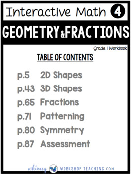 Grade 1 Math - Geometry Fractions Patterning Symmetry - Unit 4