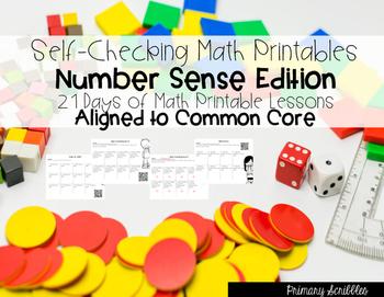 Self-Checking Math Printables Number Sense Edition