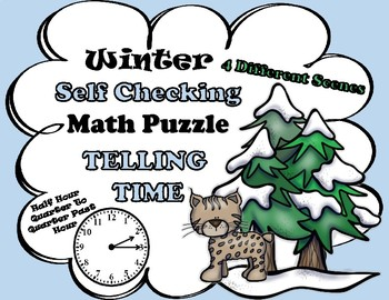 Winter Self Checking Math Puzzles TELLING TIME