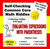 Self-Checking Math Riddles – Evaluating Numeric Expressions
