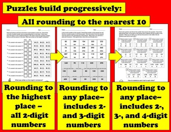 Self-Checking Math Riddles – Rounding to the Nearest 10 and 100