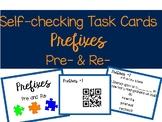 Self-Checking Prefix Task Cards (Pre-& Re-)