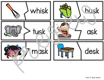 Self Checking Puzzles - Ending S Blends