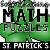 Self Checking Saint Patrick's Day Puzzles