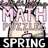 Self Checking Spring Math Puzzles