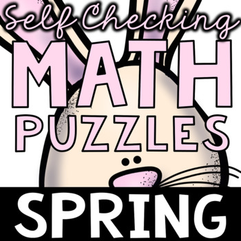Self Checking Spring Math Puzzles