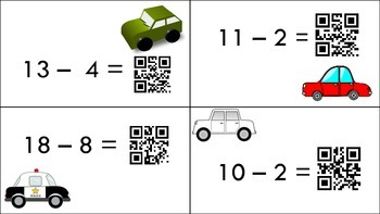 Self-Checking Subtraction within 20 with QR Codes