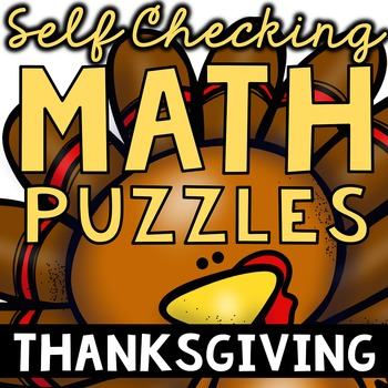 Self Checking Thanksgiving (and More!) Math Puzzles