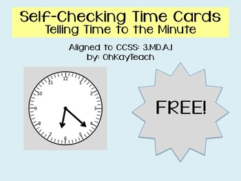 Self-Checking Time to the Minute Cards