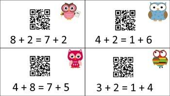 Self-Checking True False Equations with QR Codes