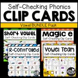 Self-Checking Vowel Clip Cards Bundle Pack
