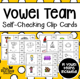 Self-Checking Vowel Team Clip Cards
