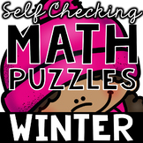 Self Checking Winter Math Puzzles
