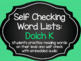 Self-Checking Word List BUNDLE: Dolch PK-3rd