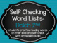 Self-Checking Word List BUNDLE: Dolch PK-3rd