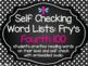 Self Checking Word List BUNDLE: Fry's 1,000 Words