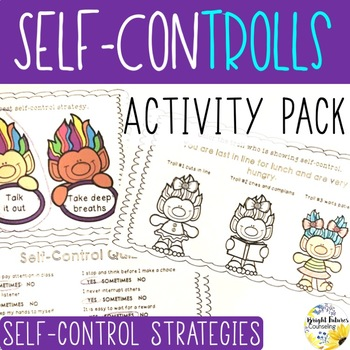 Self-Control Activity Pack - Self-ConTROLLS themed Counseling Activities