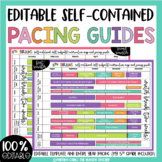 Self-Contained Editable Pacing Guide Long Term Planning (All Subjects)