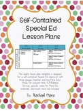 Self-Contained Special Ed Lesson Plans