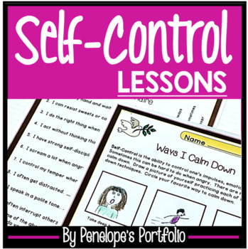 SELF-CONTROL Character Education Packet
