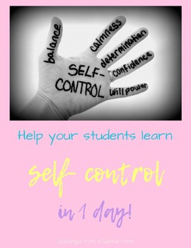 Teach Self Control | Middle School Activity