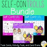Self-Control BUNDLE Self-ConTROLLS Counseling Task Cards Activity Pack and Game