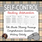 Self-Control Fluency Passage & Comprehension Activities {Grade 6}