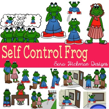 Self Control Frog Clipart
