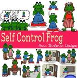 Self Control Frog Clipart