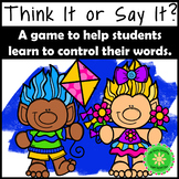 Self-Control Counseling Game- Think it or Say it