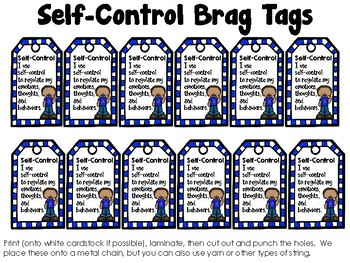 Self-Control - Monthly Character Education Pack