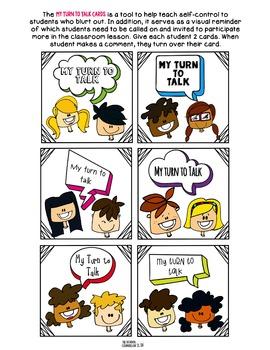Self-Control-My Turn To Talk Cards