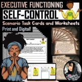 Self-Control Scenario Task Cards and Worksheets (32 pages)