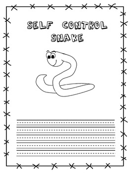 Self-Control Snake - Student Success Skills/Character Traits  Lesson